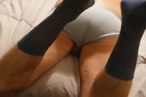 oral stimulation From 06/13/12-Daddy In Gray CK Briefs & Sheer suit Socks