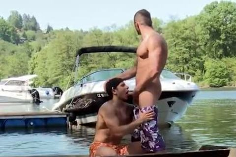 engulfing cock And Getting nailed On A Boat