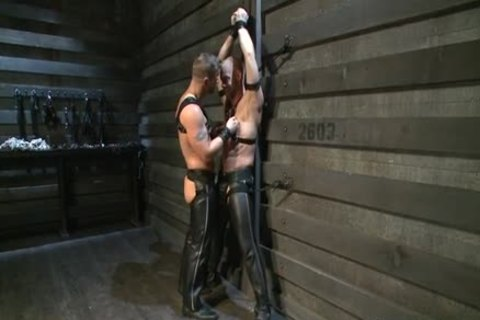Hung White lad In Leather acquires Off homo mate