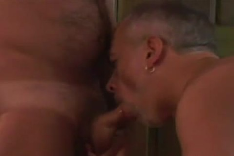 Tanned daddy gay cock Slurping