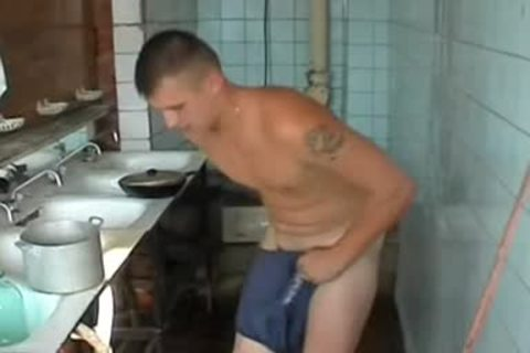 undressed Russian Soldier In A Gym