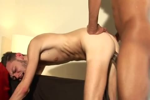 Skinny lad banged By A gigantic penis