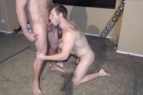 two Muscle males in nature's garb Wrestling.The  Loser One Gives A fellatio joy. cum Facial 1st Time On web camera.