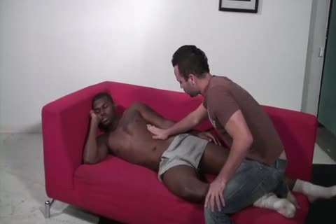 darksome chap nails His White Roommate bare