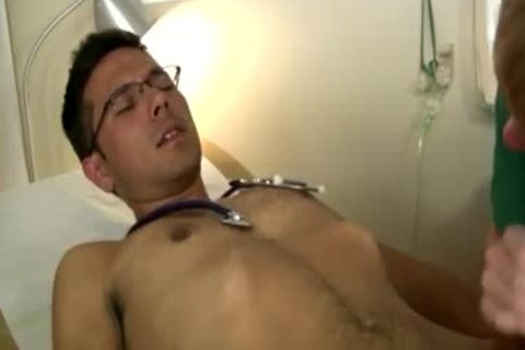 homosexual twinks Drinking sperm From A Glass The Nurse deep-face holes