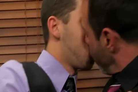 Mike Manchester And Tony Hunter Enjoying butthole In The Office