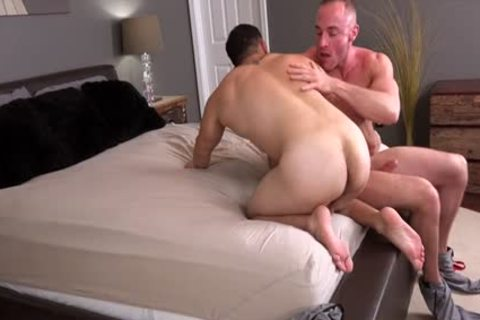 Muscle guy ass banging With sperm flow