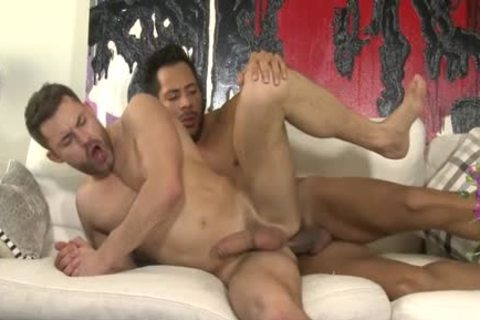 gigantic dick Son ass sex And cream flow