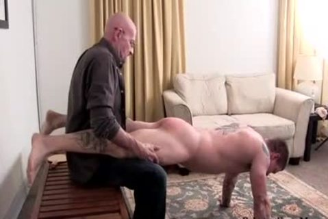 Muscle dilettante spanking With cream flow