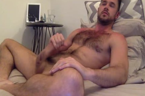 Mike De Marko Beating Off In daybed
