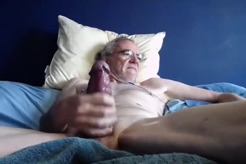 old man wank On cam