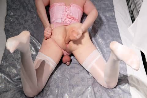 Sissy In Chastity butthole Play