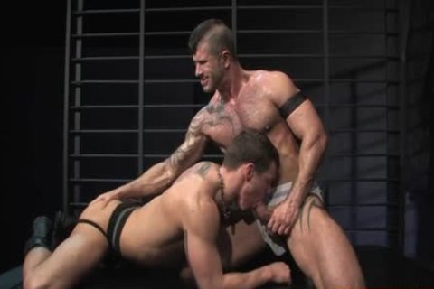 Muscle homo Flip Flop With anal goo flow
