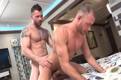 Tattoo homosexual ace fuck With spunk flow