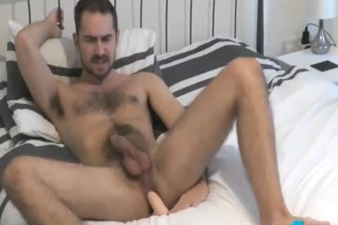 Flirt4Free Antonio West - Bearded Hunk bonks His booty And Cums On hairy Abs