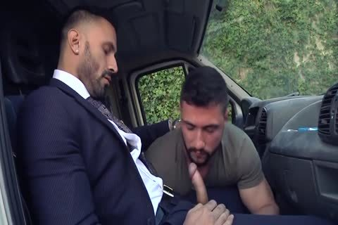 Alpha Truck Driver screwed By Suit Hunk