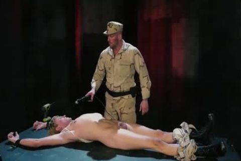 Tattoo Military Fetish With cream flow