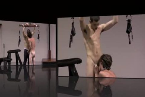 bondage twinks Play In Dungeon Whipping oral homosexual bdsm