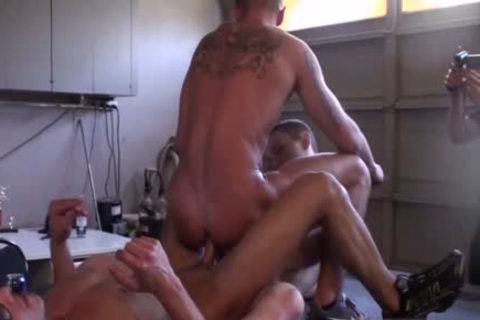 Muscle amateur threesome With Facial
