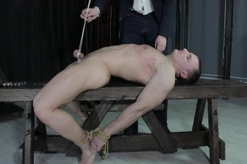 wild lad tied Down, Balls Strung Up And Spanked