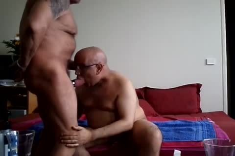 Two older gay males pound Hard On Camera
