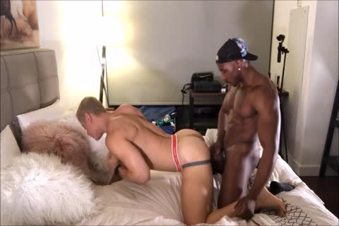blonde Interracial ass nailing And anal Licking