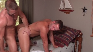 Son exchange - Dirk Caber and Luke Adams butthole Hook up