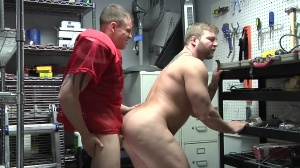 Janitor's Closet - Colby Jansen with Darin Silvers anal Hook up