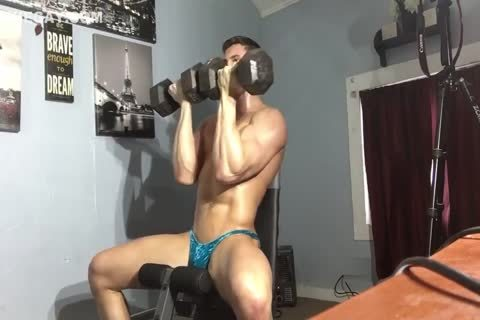 Drenched Muscle & Sweat leaking From Pants