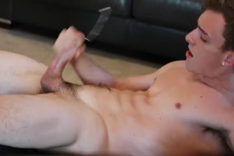 bushy homosexual Otter Takes large Straight massive penis From Frat lad