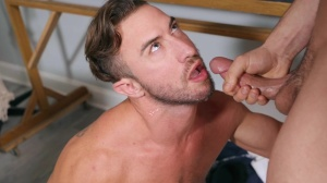 Projecting pecker - Johnny Rapid & Grant Ryan anal Hook up