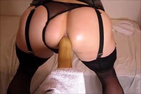 fucking My anal With A dildo whilst In underware