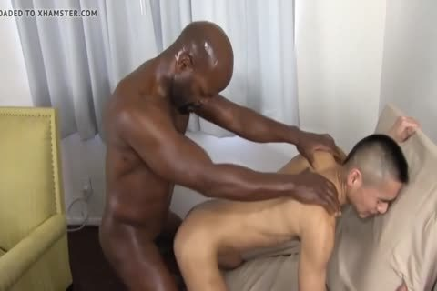 darksome Daddy Chokes A lad With His ramrod