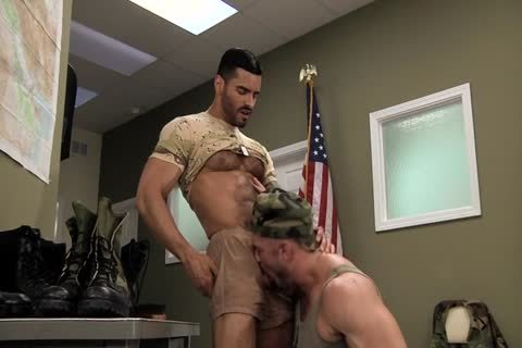 Army dudes dudes Polishing Each Other's Boots