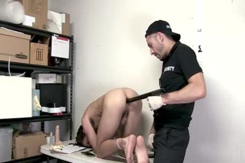 Shoplifter tied And Barefucked By Guard