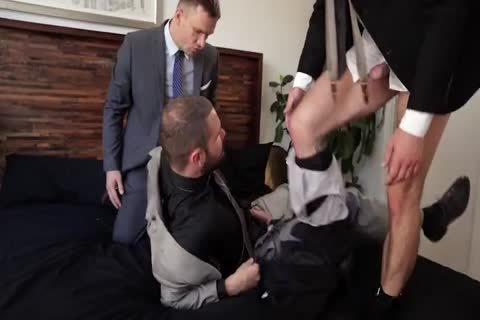 Suit nail threesome
