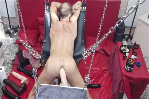 Sling Doggy With Swinging sex tool