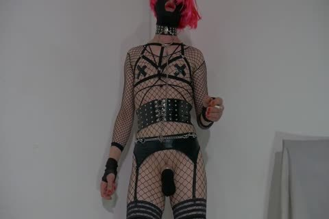 lascivious Crossdresser Partying At Home In excited Outfit