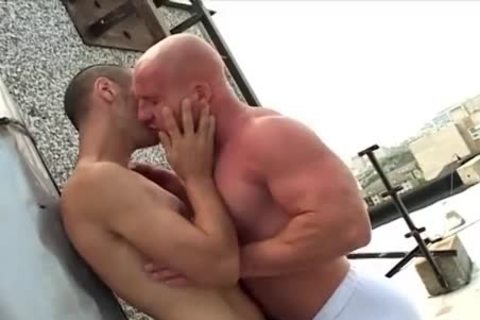 hairless oral Muscle man bonks His Skinny ally