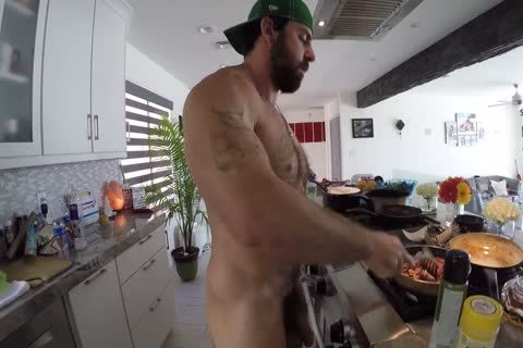Xavier Cooking in nature's garb