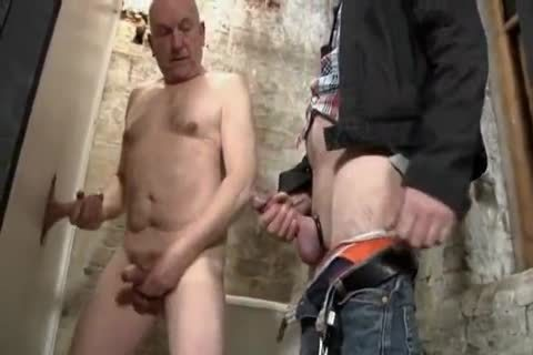 Daddy & grandad sucking penis At Gloryhole