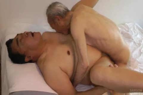 Japanese bulky Daddy Sex With enormous dick old man