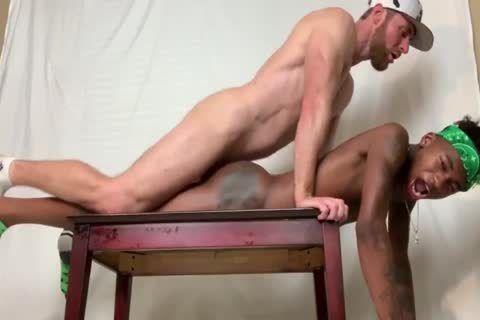 Marco Paris pounds two Smooth dark twinks stripped