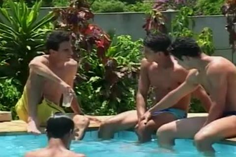 young Latino Hunks juicy ass plowing By Pool