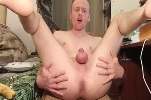 LanaTuls - butthole plowing And Stretching With Banana And dildo