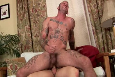 Tatted Military man fucked