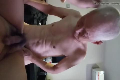 Chinese old chap Sucks & nails His Younger friend