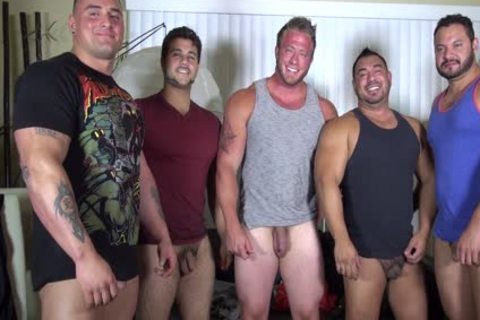bare Party @ LATINO Muscle Bear house - non-professional joy W/ Aaron Bruiser