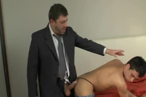Son And Straight dad Having Some pleasure
