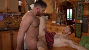 MenofUK: Inked Leander and Jonas Jackson licking ass scene